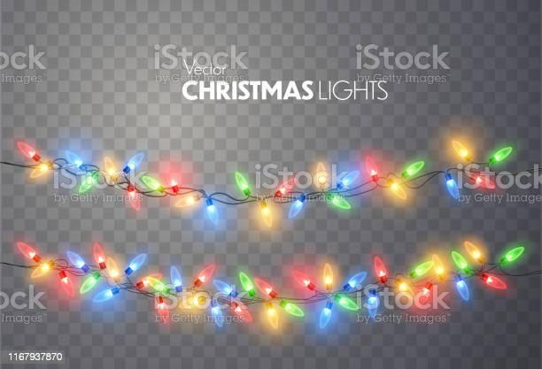 Świąteczne Lampki - Stockowe grafiki wektorowe i więcej obrazów Abstrakcja