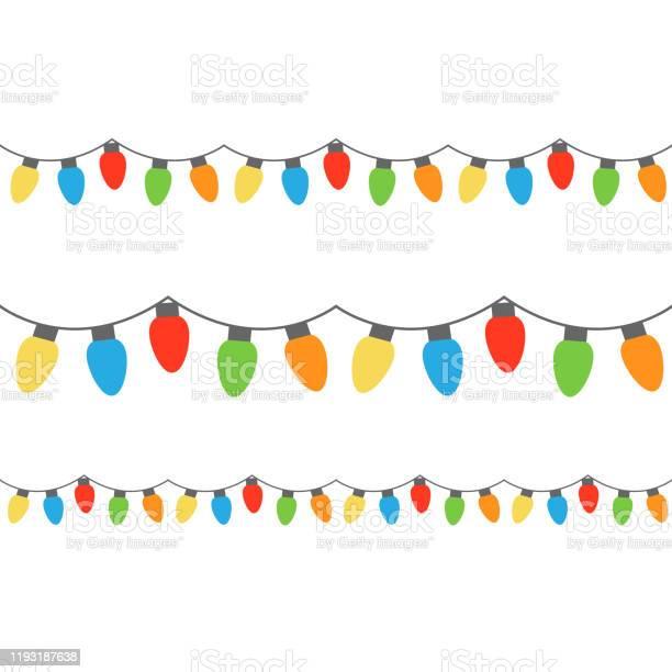 크리스마스 조명 갈란드-장식품에 대한 스톡 벡터 아트 및 기타 이미지