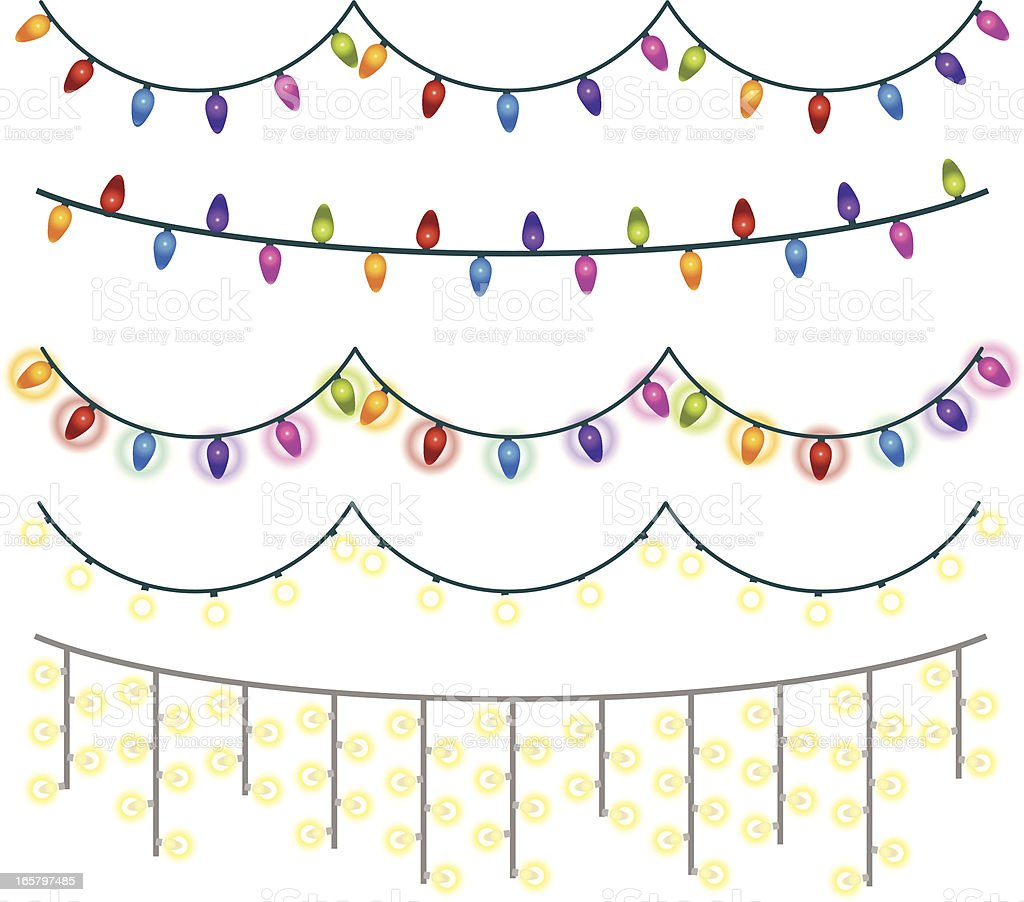 Christmas Lights royalty-free christmas lights stock vector art & more images of celebration
