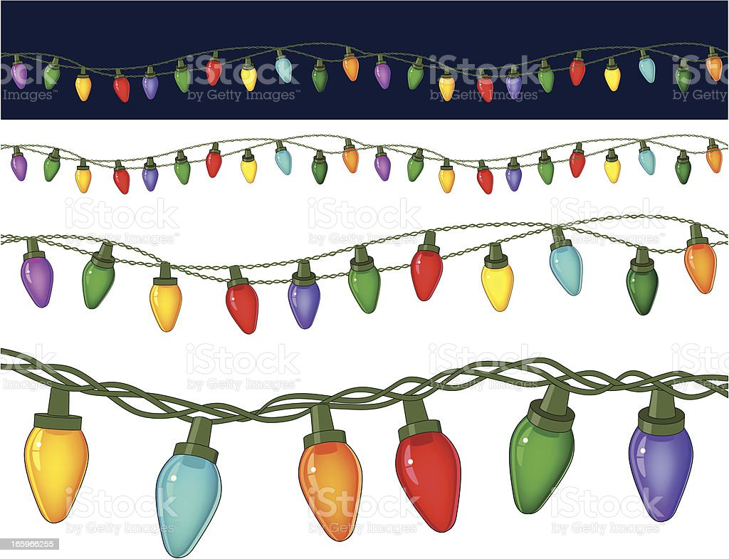 Christmas Lights vector art illustration