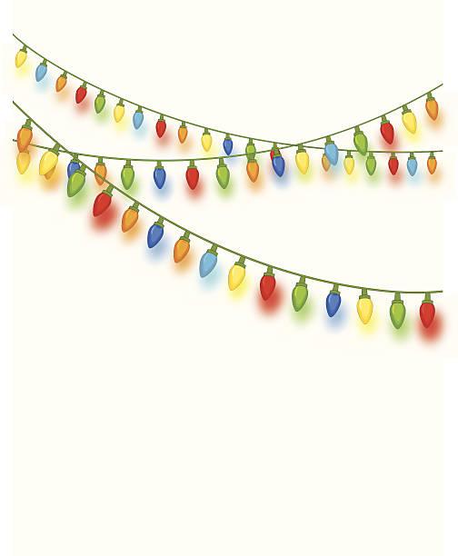 String Of Xmas Lights Clipart: Royalty Free Christmas Lights String Clip Art, Vector