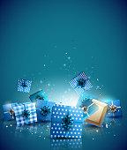 Christmas luxury greeting card