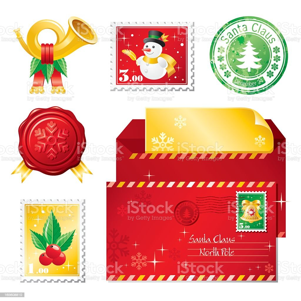 Christmas mail icon set royalty-free christmas mail icon set stock vector art & more images of bell