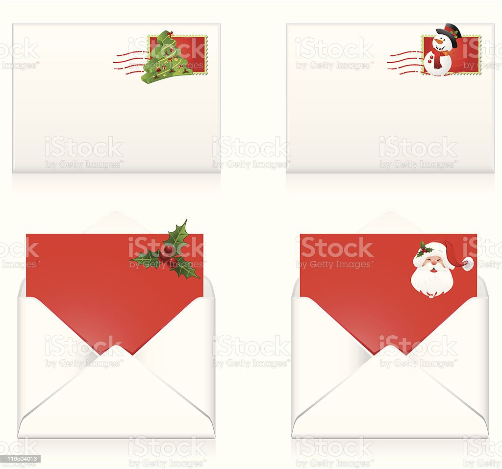 Christmas mail royalty-free stock vector art