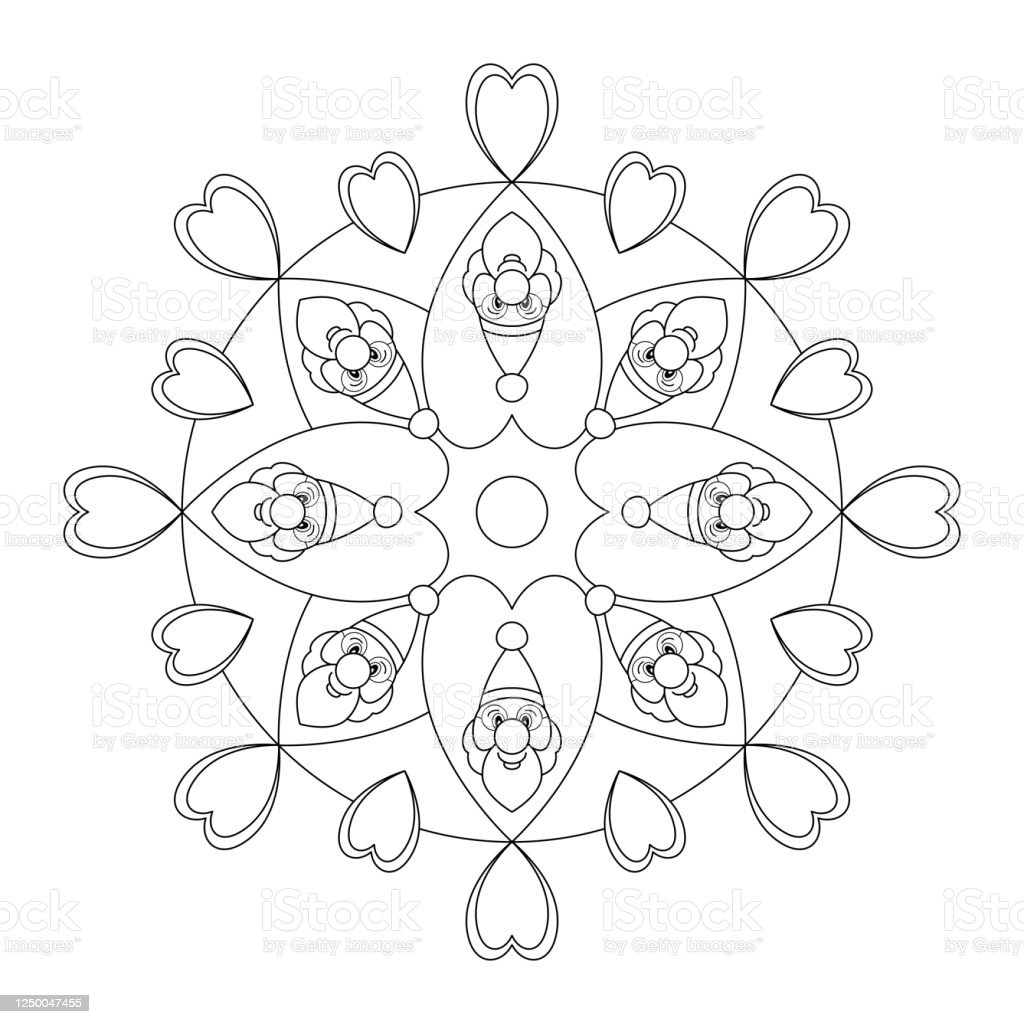 Free Free Christmas Mandala Coloring Pages, Download Free Clip Art ... | 1024x1024