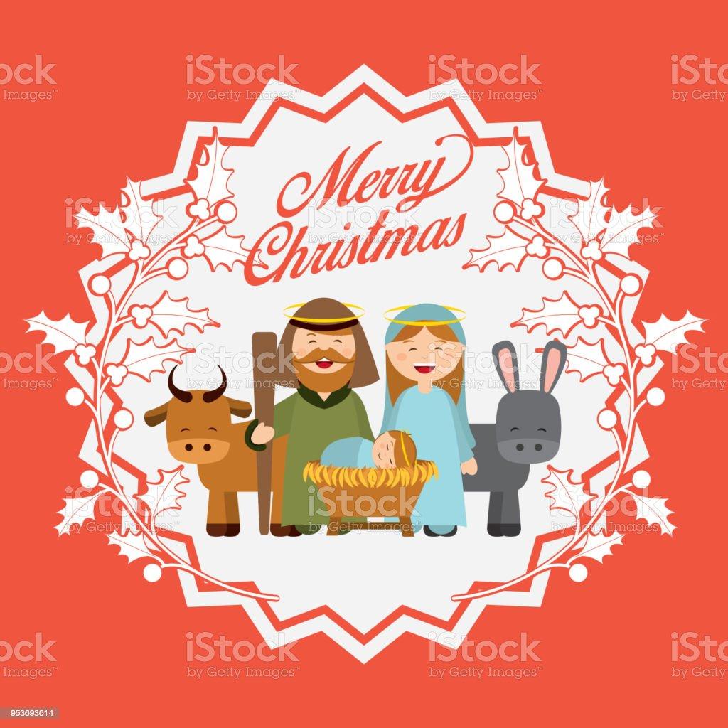 Bilder Weihnachten Krippe.Weihnachten Krippe Figuren Stock Vektor Art Und Mehr Bilder Von