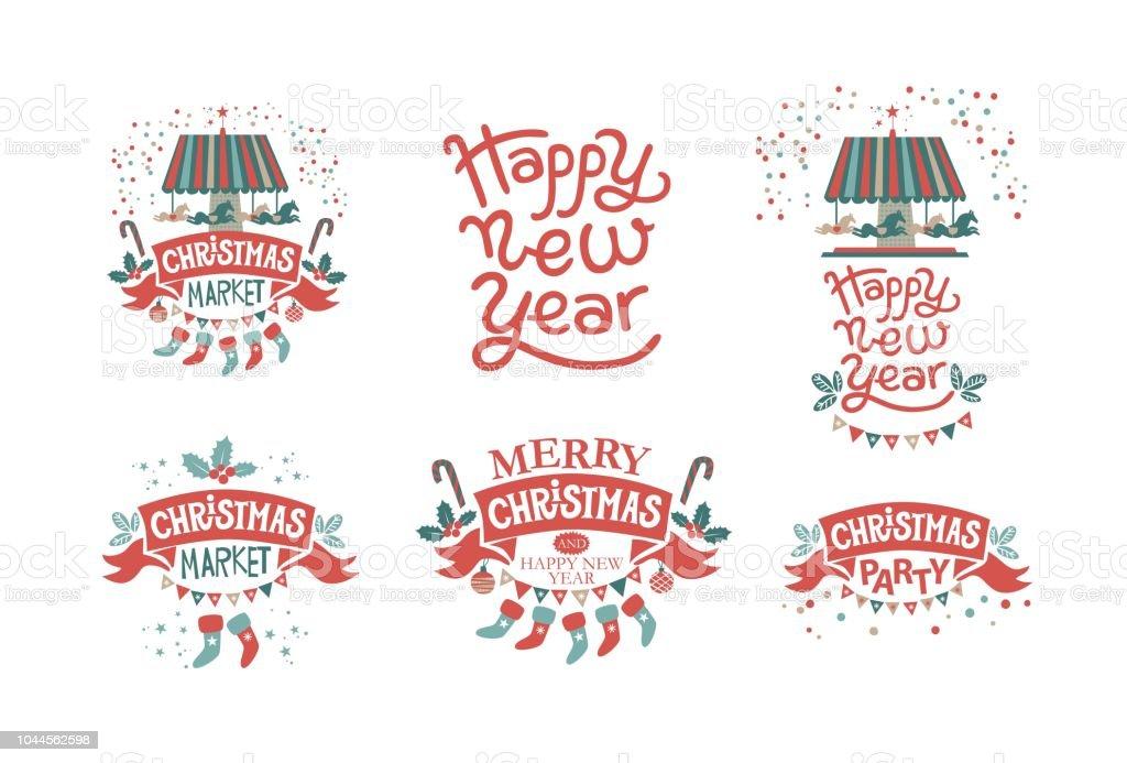 Weihnachtsmarkt Weihnachtsfeier Frohes Neues Jahr Frohe Weihnachten ...