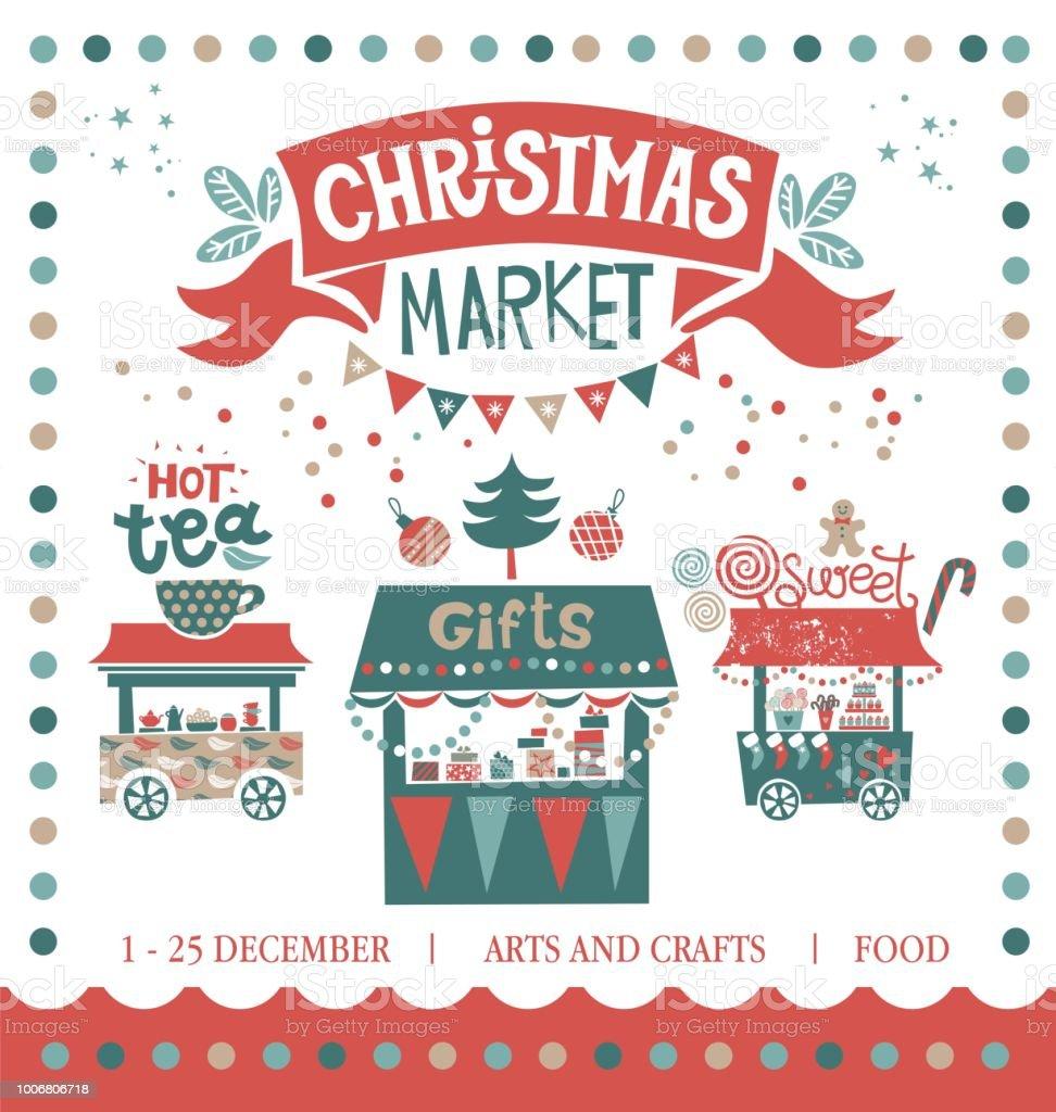 Weihnachten Markt Abbildung Winterzeit Frohe Weihnachten Und ...