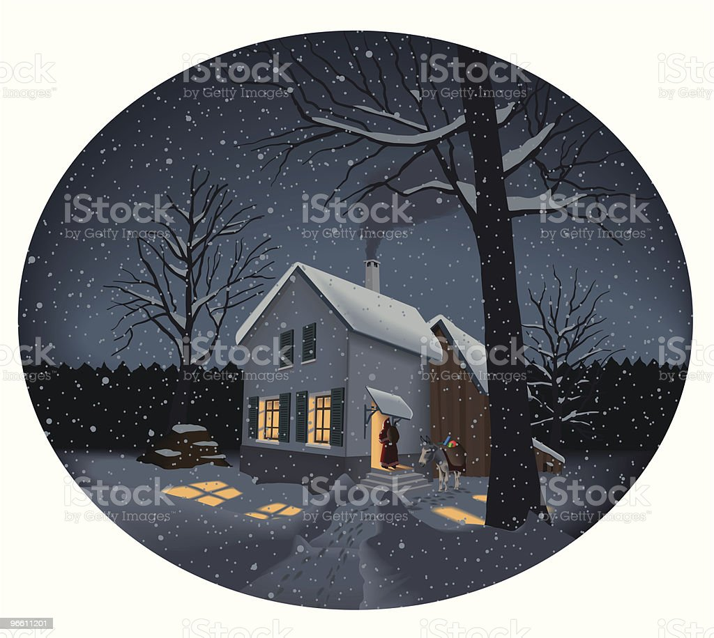 Christmas memory royalty-free stock vector art