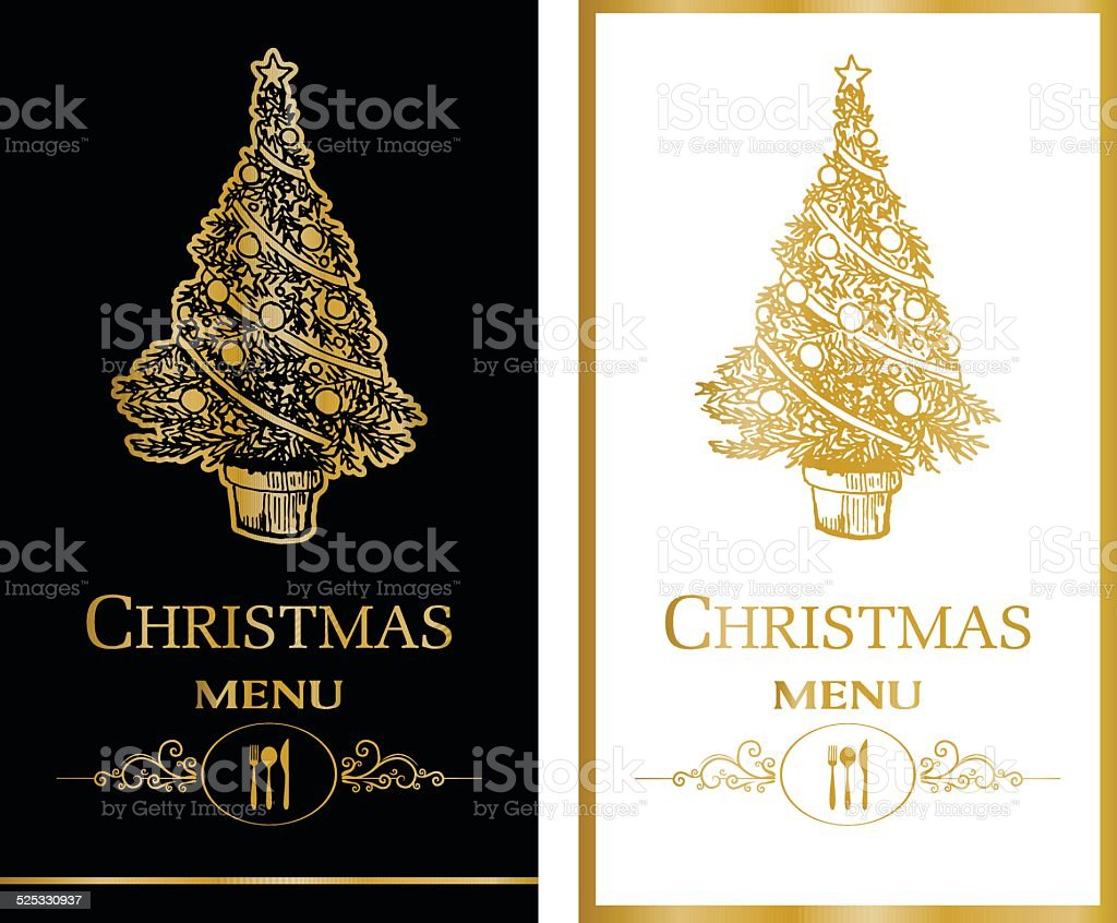 Carte de Menu de Noël - Illustration vectorielle