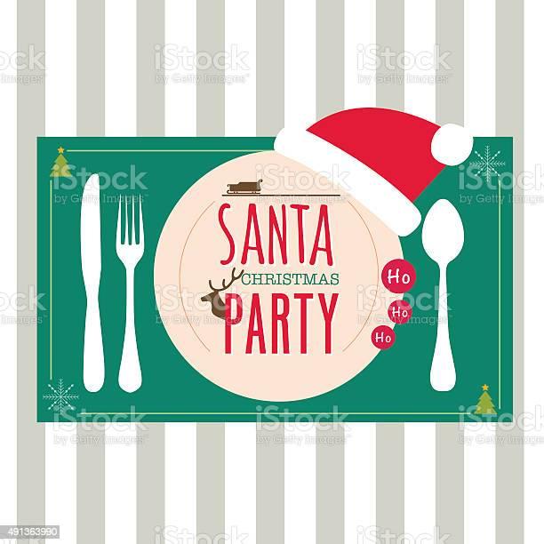Menu Cena Di Natale Gli Elementi Di Design - Immagini vettoriali stock e altre immagini di Arredamento