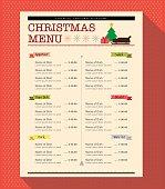Christmas Menu Design template layout