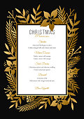 Christmas Menu Template - Illustration