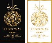Christmas Menu Card. EPS8.