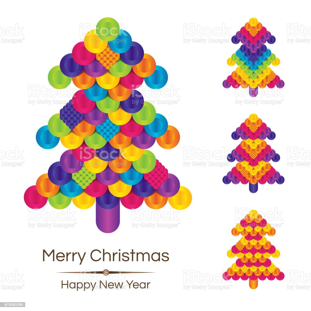 christmas merry tree background happy new year december