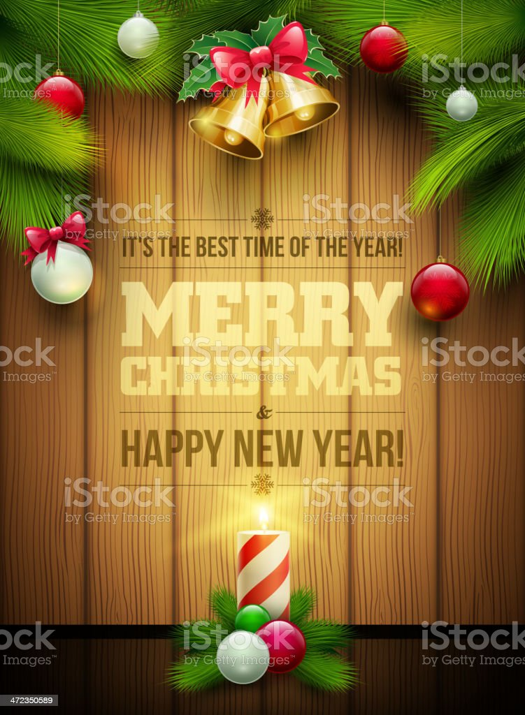 Christmas Message Board royalty-free stock vector art