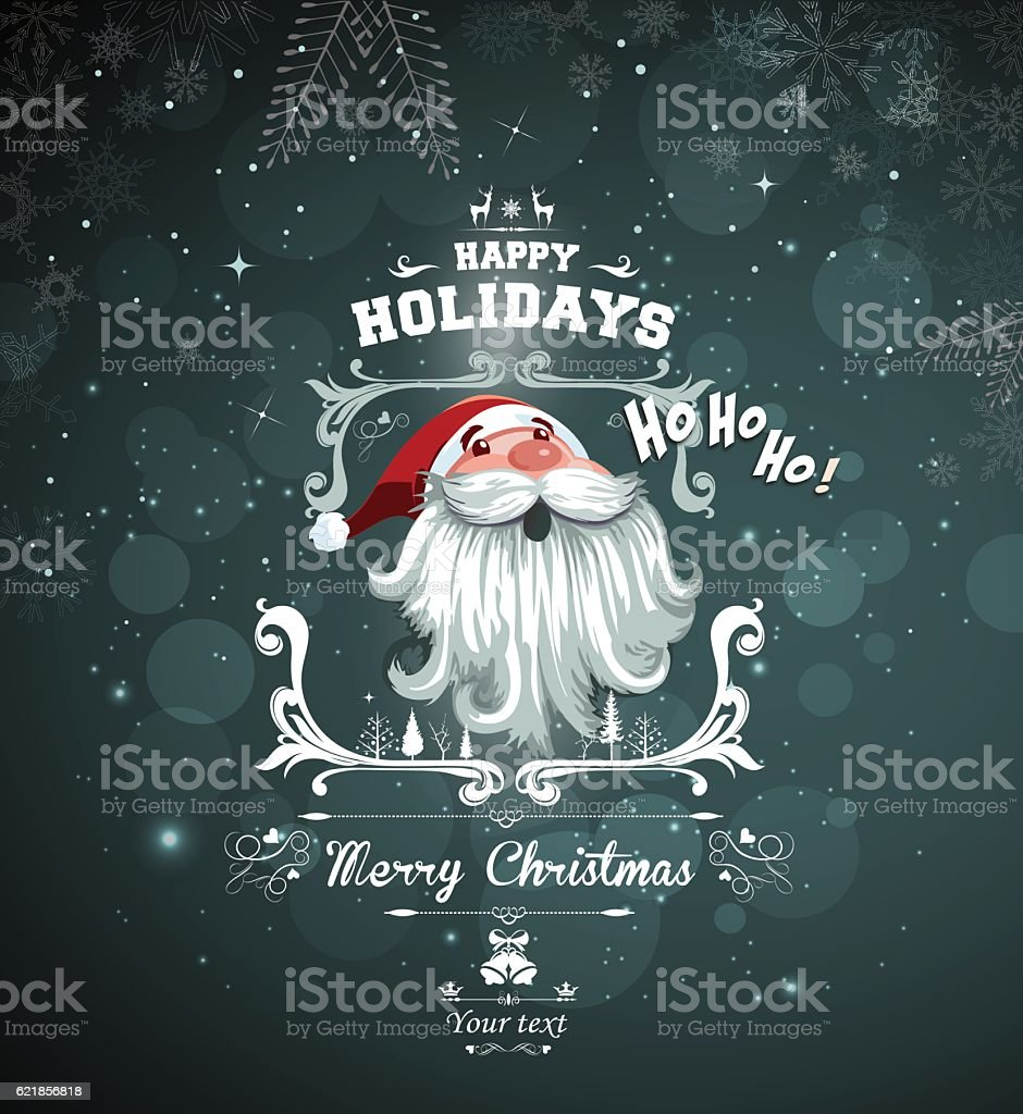 Christmas message vector art illustration