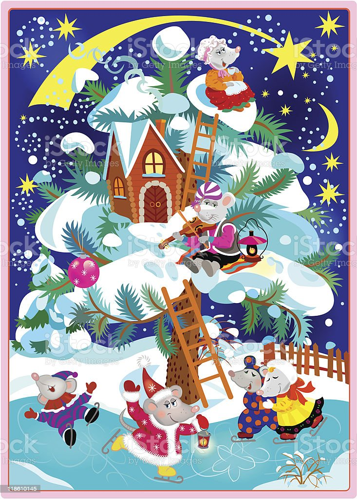 Christmas. Mice royalty-free christmas mice stock vector art & more images of beauty in nature
