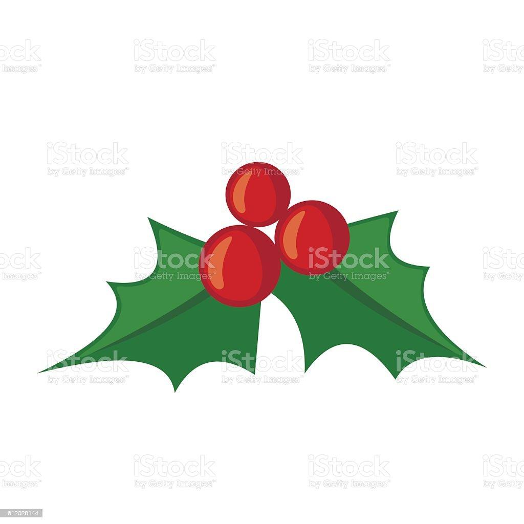 christmas mistletoe icon in flat style stock vector art 612028144
