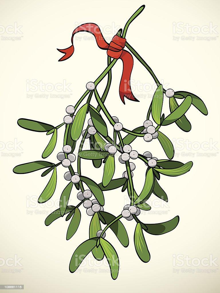 Christmas Mistletoe royalty-free stock vector art