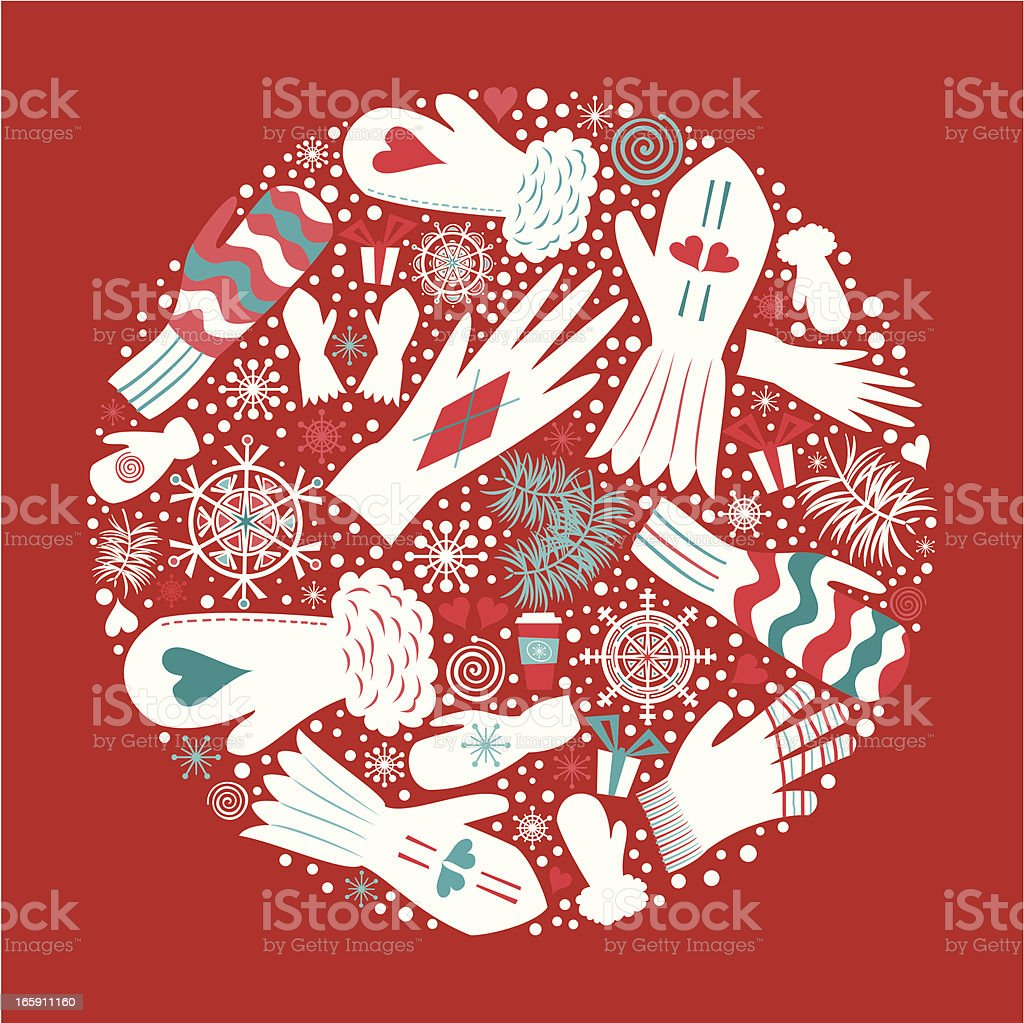 Christmas Mittens and Gloves - Royalty-free Christmas stock vector