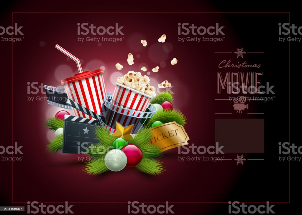 Image result for christmas movie and popcorn images