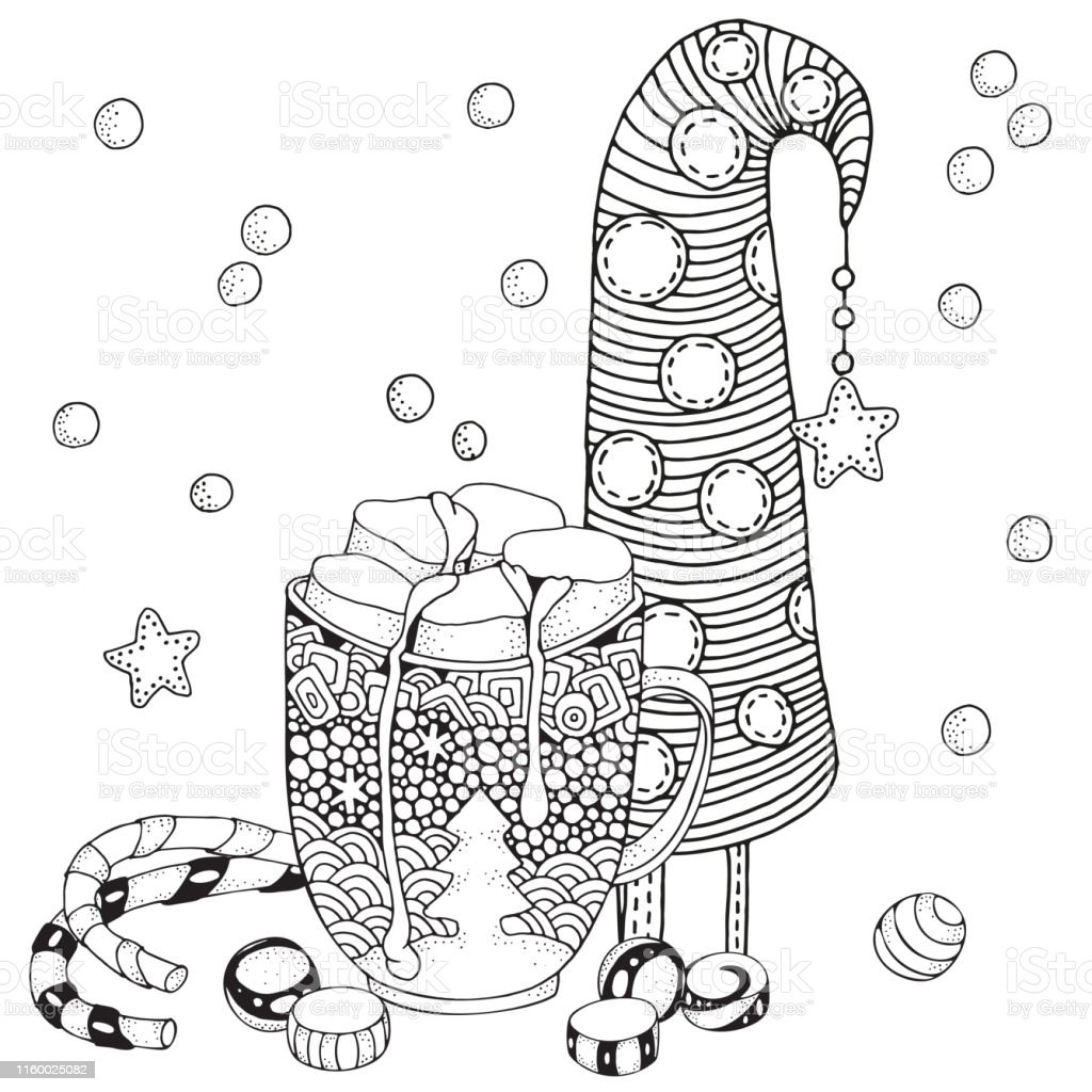 Sicak Cikolata Ve Marshmallow Ile Noel Kupa Noel Dekorasyonu Noel