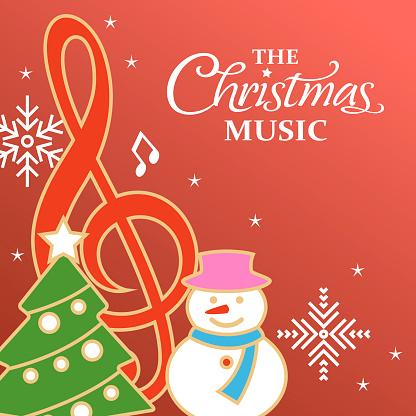 Christmas Music Icon Set