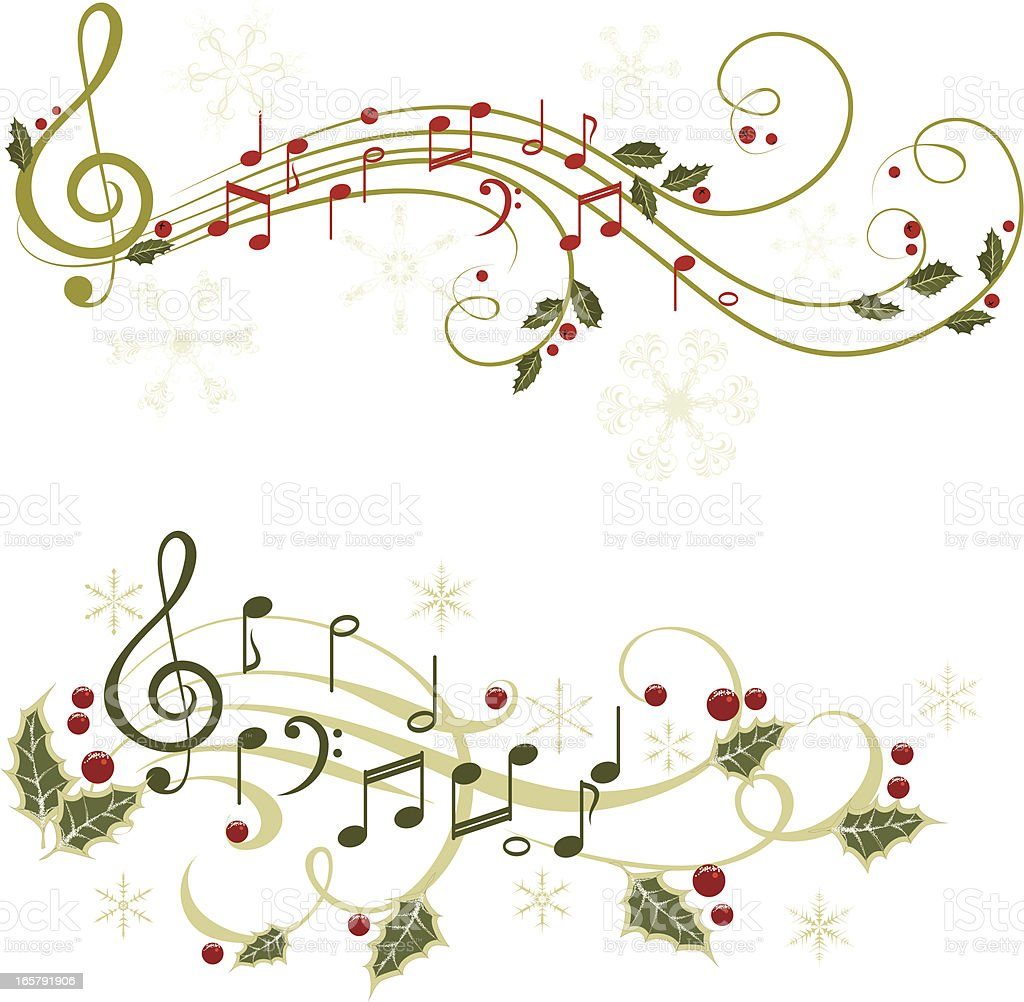 Musical Wallpaper Borders: Christmas Music Stock Vector Art & More Images Of Berry