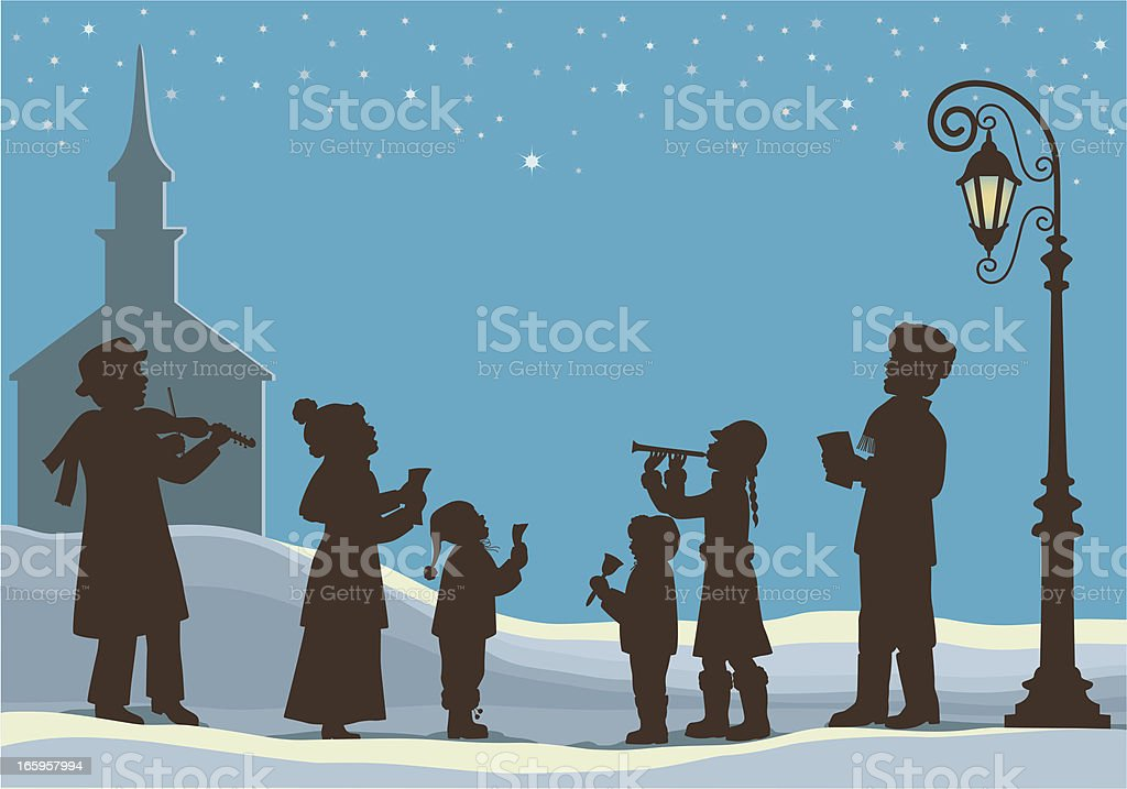 Christmas Music vector art illustration