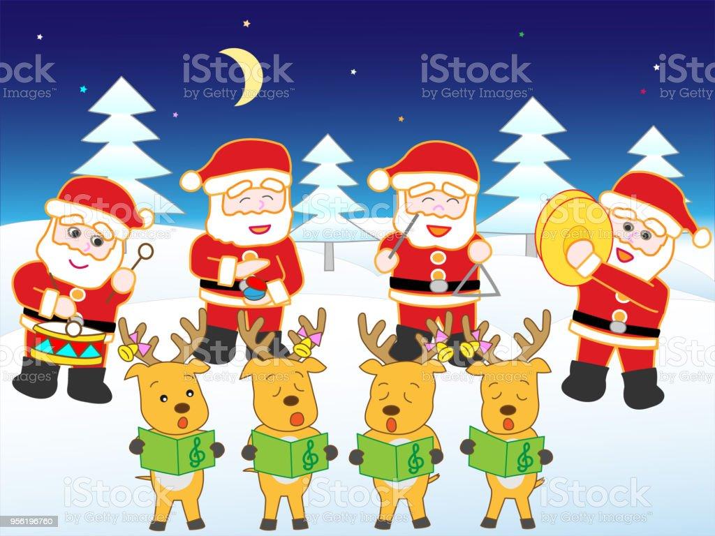 Weihnachtslieder Stock Vektor Art und mehr Bilder von Akkordeon ...