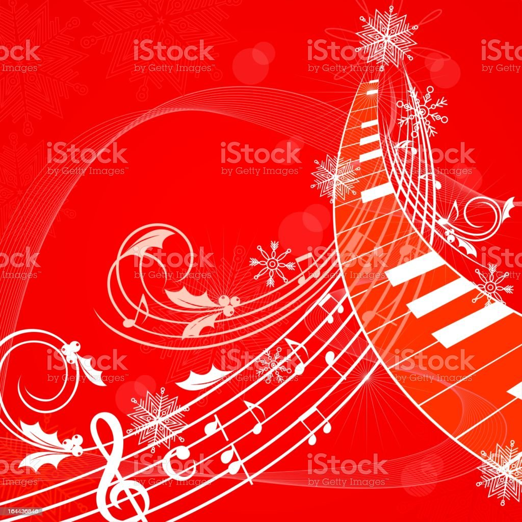 Christmas musical background royalty-free stock vector art
