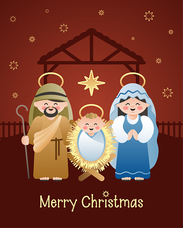 Christmas Nativity Joseph Character Icon Clipart Image