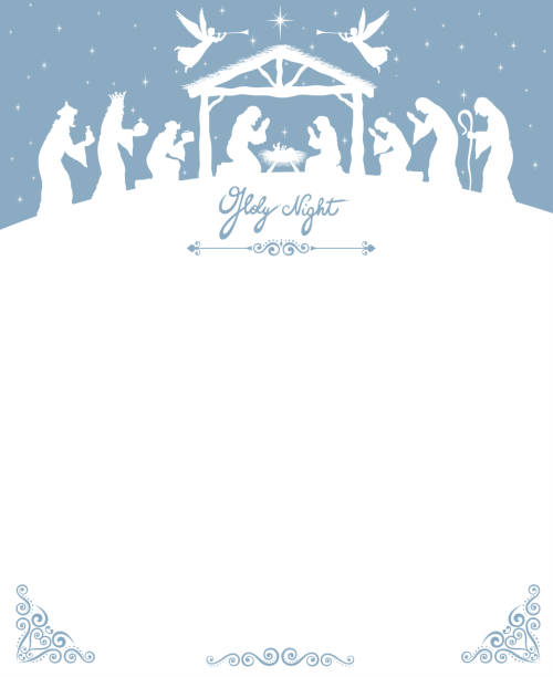 weihnachtskrippe - religion stock-grafiken, -clipart, -cartoons und -symbole