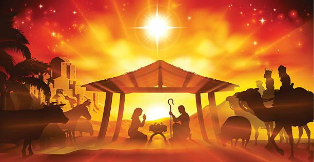 クリスマスキリスト降誕のシーン  - 出産点のイラスト素材/クリップアート素材/マンガ素材/アイコン素材