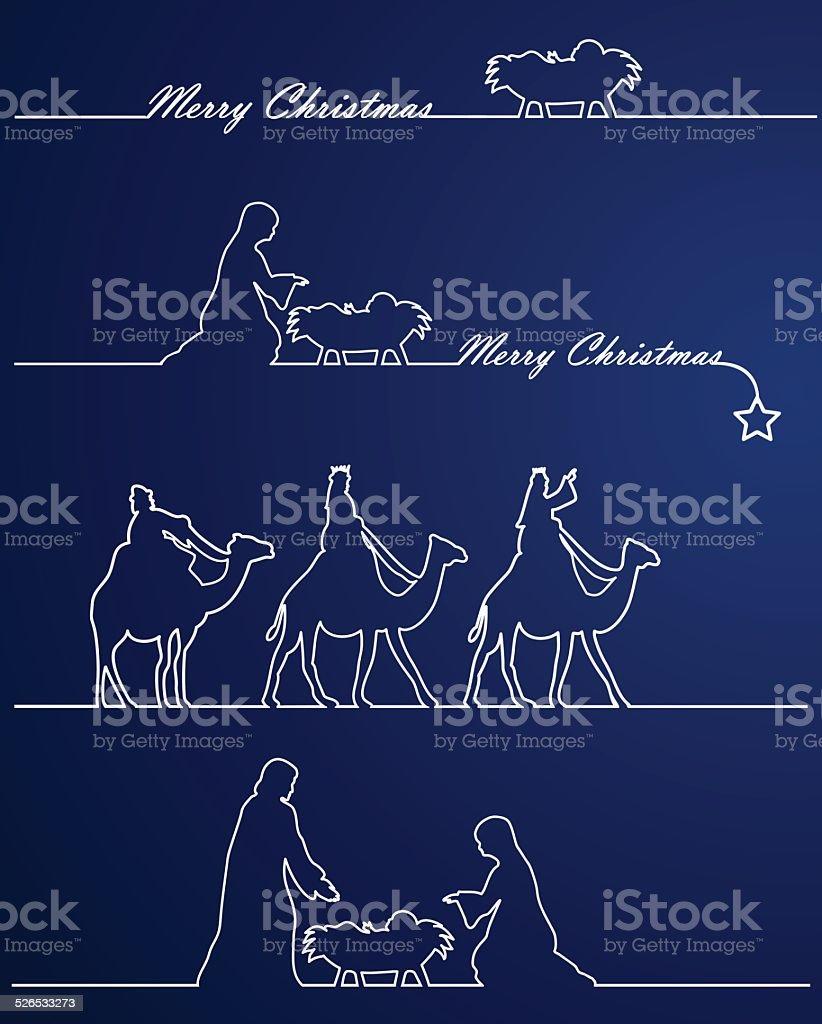Nativity Weihnachten – Vektorgrafik