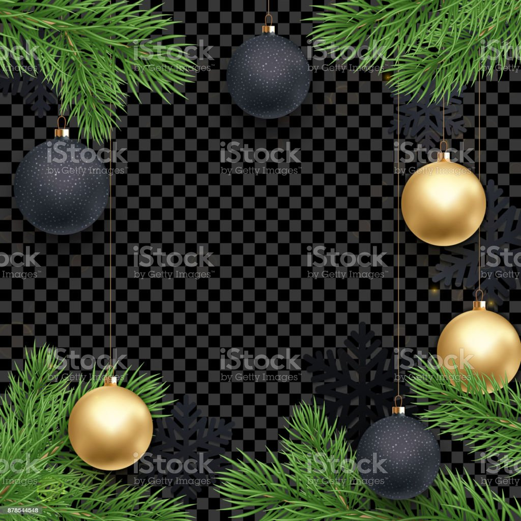 Christmas New Year Greeting Card Background Template Golden Stars