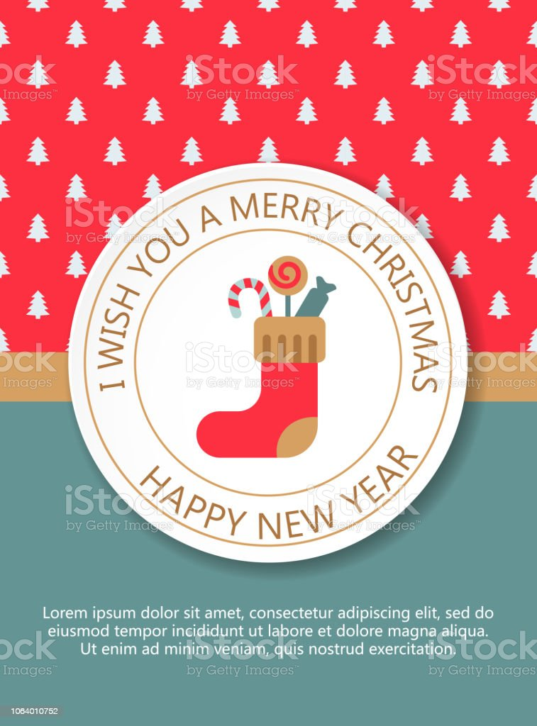 christmas new year greeting card invitation royalty free christmas new year greeting