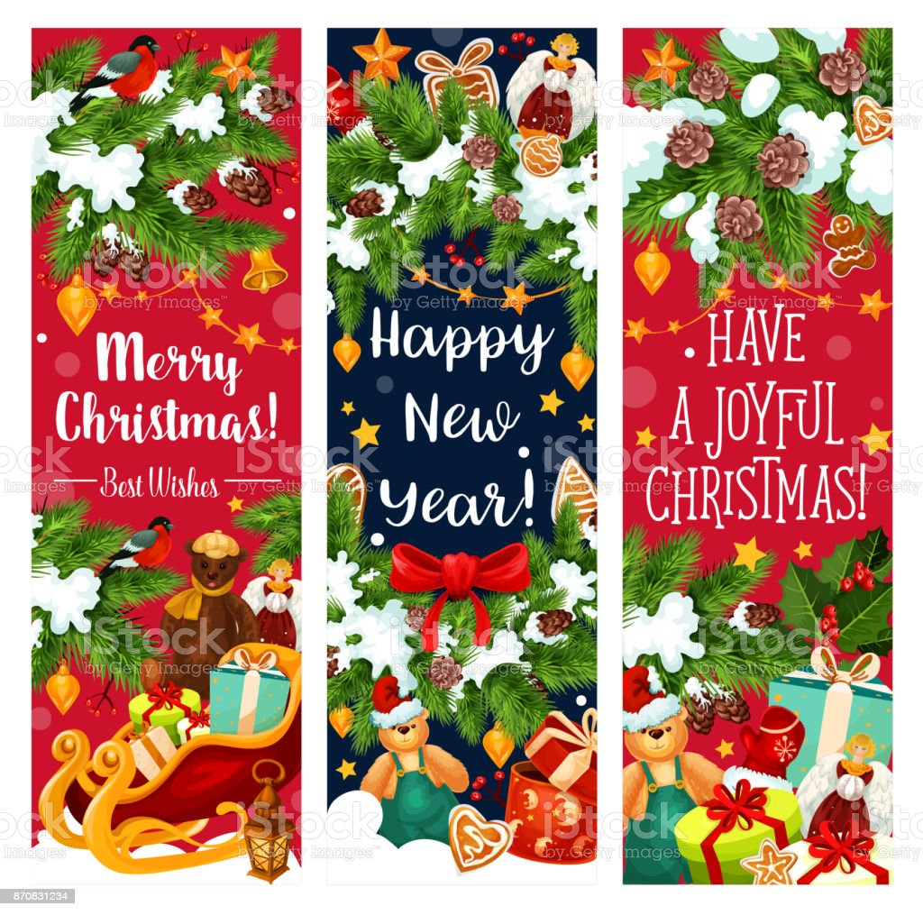 christmas new year holiday vector greeting banners royalty free christmas new year holiday vector greeting