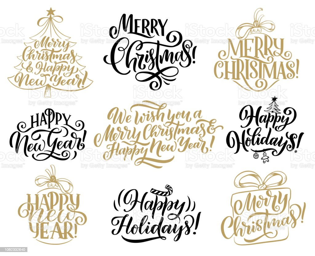 christmas new year holidays lettering quotes royalty free christmas new year holidays lettering quotes