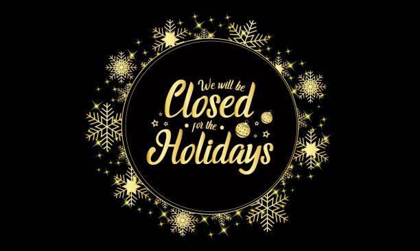 stockillustraties, clipart, cartoons en iconen met kerstmis, nieuwjaar, we zullen gesloten zijn - dicht