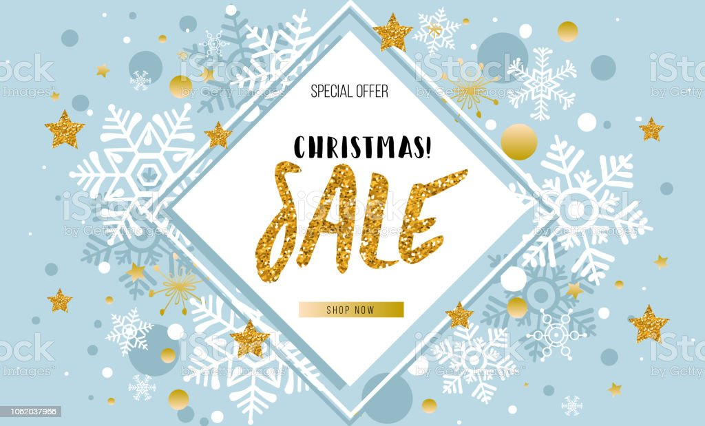 Christmas New Year Winter Sale Banner Poster Background