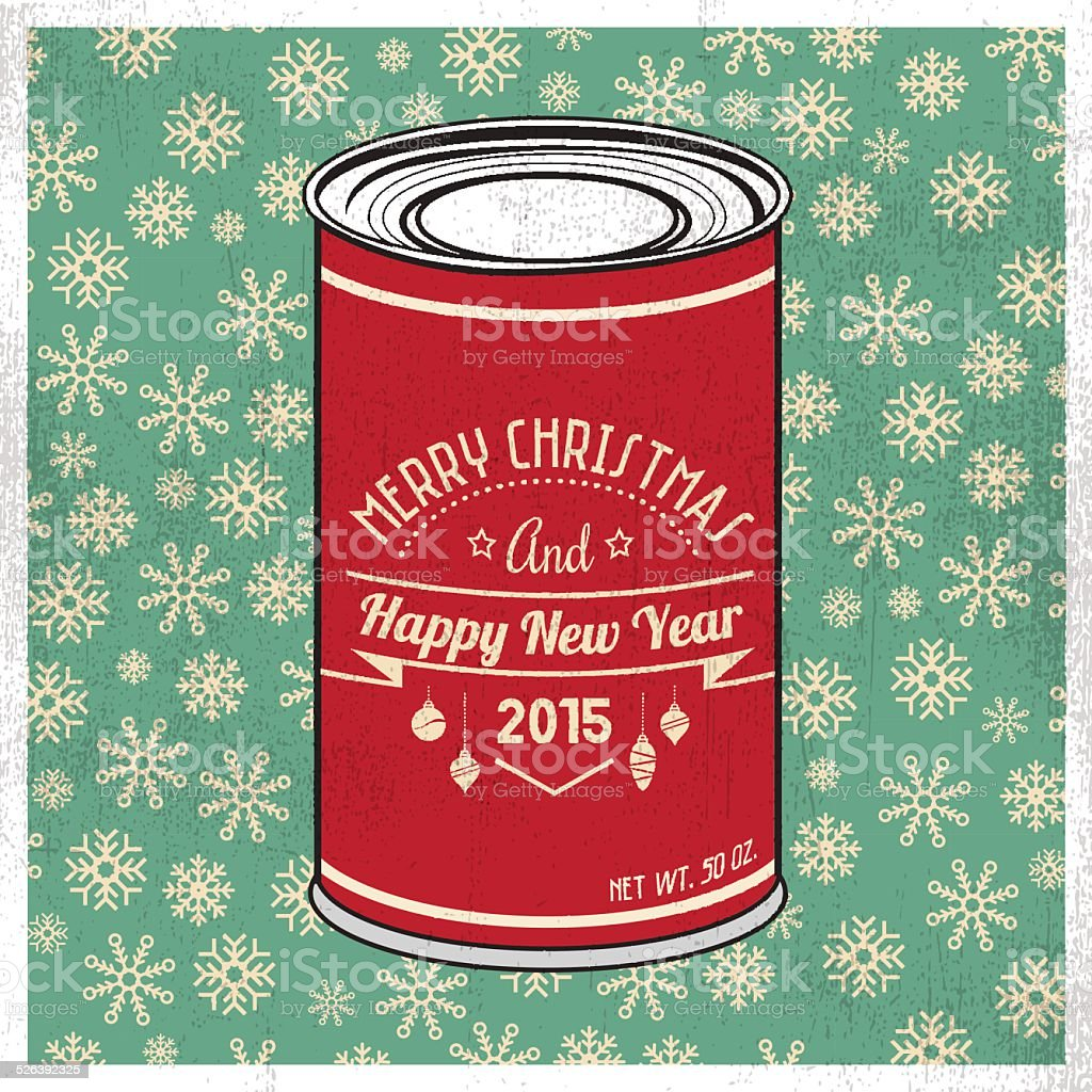 Christmas tin vector art illustration