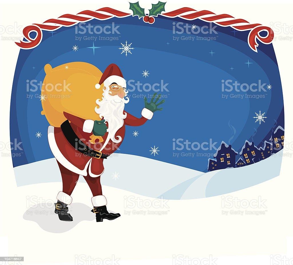 christmas night royalty-free stock vector art