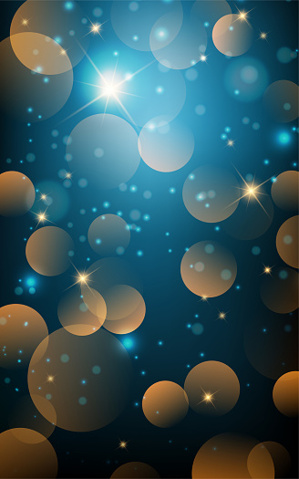Christmas night . Xmas festive background.  New year Winter art design with snowflakes, sparkles and lights.Eps10