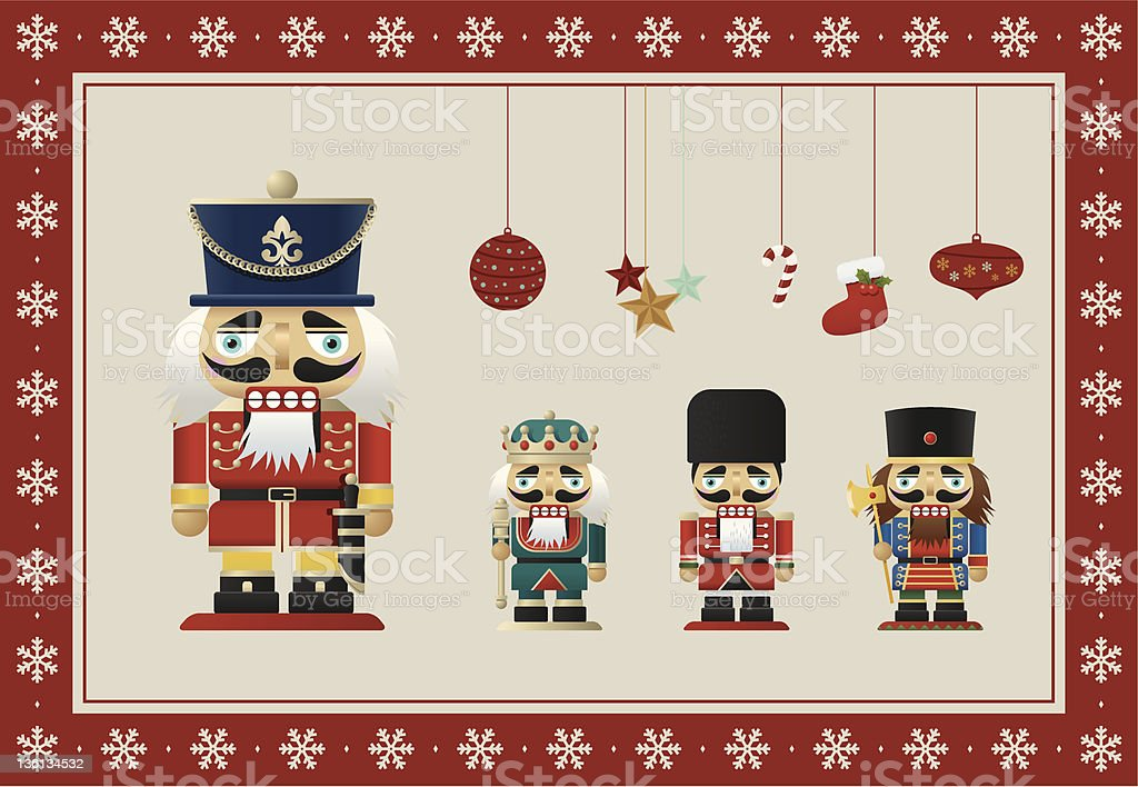 Christmas Nutcrackers royalty-free stock vector art