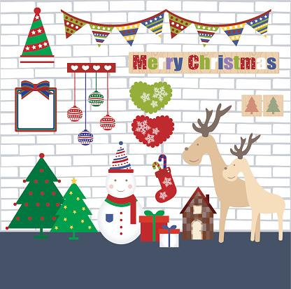 christmas object flat illustration