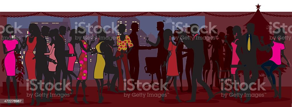 Christmas Office Party vector art illustration