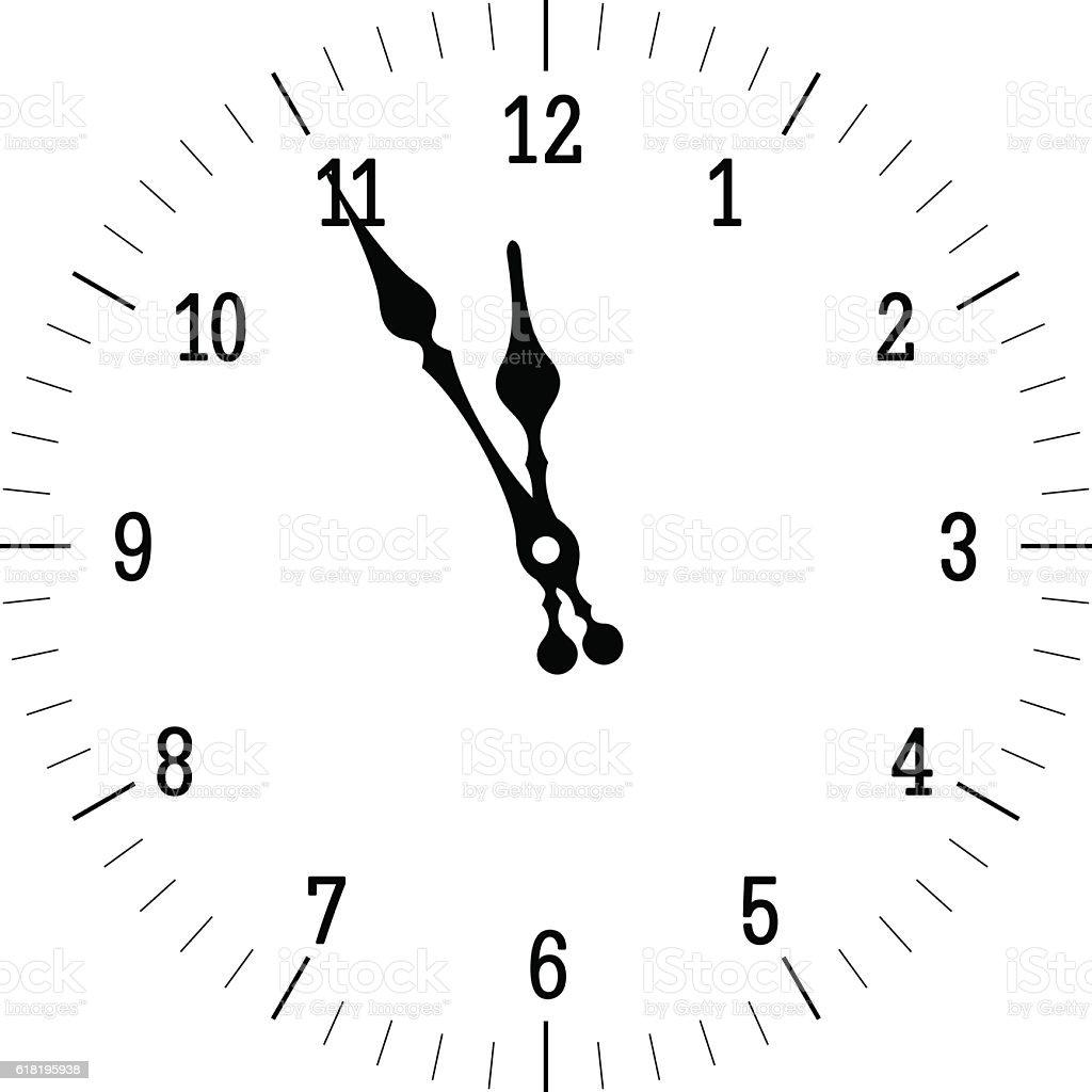 Christmas Old Clock vector art illustration