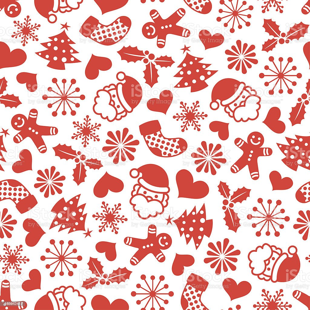 christmas one color seamless pattern stock vector art 165942417